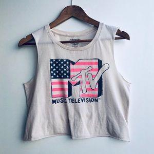 American Eagle- MTV Crop Top Medium